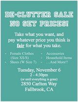 De-Clutter Sale!! in Oceanside, California