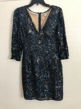 Blue Sequin Cocktail Dress in Fort Irwin, California