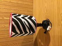 Lamp - pink and zebra stripped in Aurora, Illinois