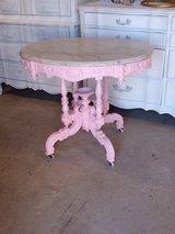 early antique oval entryway table in Cherry Point, North Carolina