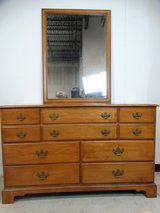 Ethan Allen Early American Dresser with Mirror in League City, Texas