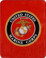 NEW Blanket, US MARINE CORPS Logo, Full Size Bed - GREAT GIFT! in Alamogordo, New Mexico