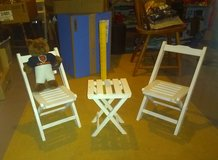 """3-Piece """"Little People"""" Folding Table & Chairs in Naperville, Illinois"""
