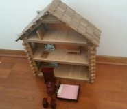Log Cabin Doll House with Furniture in Lockport, Illinois