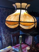 Antique Stained glass light hanging in Orland Park, Illinois