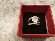 Silver ring with white topaz in Fort Carson, Colorado