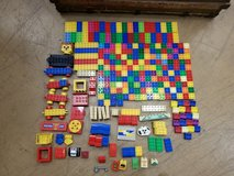 230+ Lego Duplo asst pieces incl cars faces misc in Chicago, Illinois