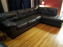 L Shaped couch Gray in Naperville, Illinois
