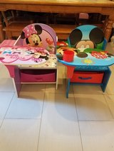 Mickey and Minnie mouse desks in Beaufort, South Carolina