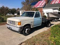 Pickup 91 f350 2wd auto 5.8 gas flatbed truck in Cherry Point, North Carolina