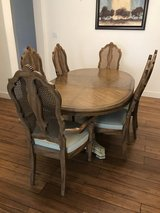 Dining room table, 6 chairs, and hutch just in time for Thanksgiving! in Fairfield, California