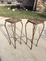 Vintage Rod Iron Outdoor Plant Stands in Orland Park, Illinois