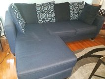 Couch w/reversible chaise and oversize pillows in Camp Lejeune, North Carolina
