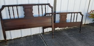 ANTIQUE Spindle Bed Headboard and Footboard in Houston, Texas