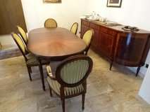 Mahagony dinning ensamble*table, chairs, cabinet + hutch in Ramstein, Germany