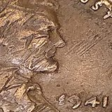 1941 penny One oe a kind Stamped E941 instead of 1941 in Westmont, Illinois