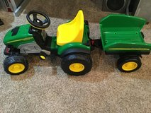 Peg Perego John Deere Farm Tractor with Trailer in Naperville, Illinois