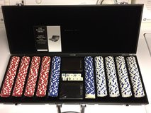 Sharper Image Tournament Class 500 Piece Poker Chip Set w/Case in Chicago, Illinois