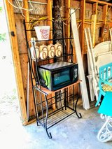 Baker's rack and Hardly ever used microwave in Camp Lejeune, North Carolina
