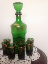 Mid Century Decanter and glasses in Cleveland, Ohio