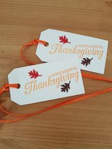 9 Thanksgiving Gift Tags Handmade in Ramstein, Germany