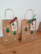 3 Christmas Gift Bags With Tags Handmade in Ramstein, Germany