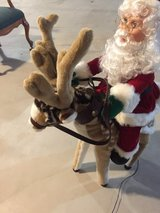 Electric moving reindeer with Santa 3ft in Joliet, Illinois