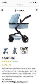Brand New (Out of Box) TrioKid Doll Stroller in Bolingbrook, Illinois