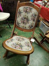 Antique folding rocker in Elgin, Illinois