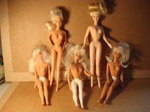 FIVE BARBIE DOLLS in Naperville, Illinois