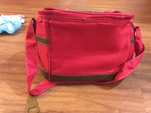 Red lunch bag with bottle opener in Byron, Georgia