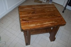 Solid wood side table in The Woodlands, Texas