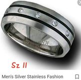 Stainless steel mens ring -sz 11 in Pearland, Texas