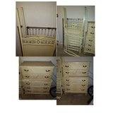 Vintage canopy crib and chest of drawers in Warner Robins, Georgia