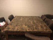 4ft x 4 ft marble table with 8 chairs in Quantico, Virginia
