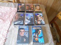 (7) JAMES BOND 007 VHS Movies Plus 1 Roger Moore VHS Movie! Lot of 8 VHS tapes in Kingwood, Texas