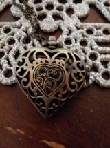 Bronze / copper-colored watch heart-shaped necklace in Fort Irwin, California