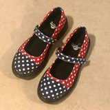 Super Cute Dr. Martens Polka Dot Mary Jane Shoes Youth Size 3 Like New in Fairfield, California