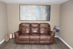 leather electric recliner-brown in Kingwood, Texas