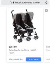Hauck turbo duo side by side stroller in Macon, Georgia