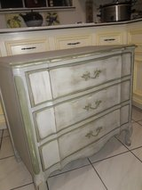 Vintage French mini dresser. Refurbished shabby chic. Many probabilities in The Woodlands, Texas