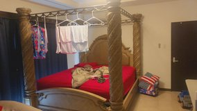 King 4 poster bed complete in Okinawa, Japan