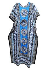 Womens Caftan Kaftan Printed Lounge Cotton Maxi Dresses One Size in Fort Rucker, Alabama