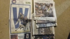 Cubs World Series Chicago Tribune in St. Charles, Illinois