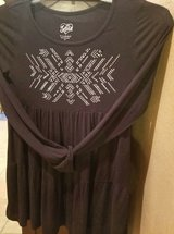 "$6.00 Girls Size 12 JUSTICE Black Top/Dress Bling Design  Bust 30"" without stretch - Length 26"" ... in Leesville, Louisiana"