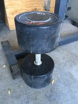 115 pound dumbbell in Fort Irwin, California