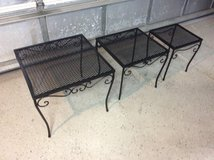 Woodard wrought Iron Nesting Tables in Beaufort, South Carolina