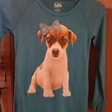 "$5.00 Girls Size 12 JUSTICE Puppy Blue Top  Bust 30"" without stretch - Length 23"" PreWorn, LOOKS... in Leesville, Louisiana"