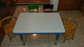 Children's Adjustable Activity Table (Chairs Included) in Okinawa, Japan