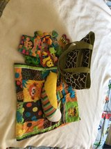 Baby toys, diaper bag, and shopping cart cover in Ruidoso, New Mexico